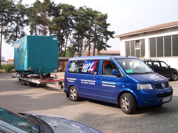 Transport eines defekten Anh.