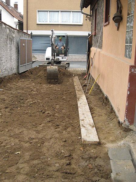 Baggerarbeiten Planum herstellen