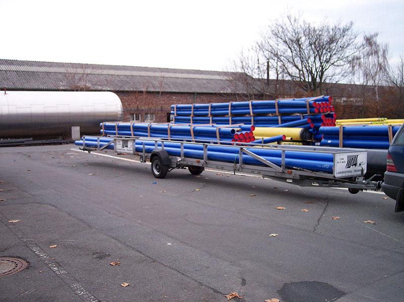 Langmaterial-Transport